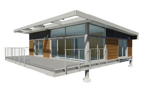 Edif cios pr fabricados de a o casa pr moldada for Estructuras de hierro para casas